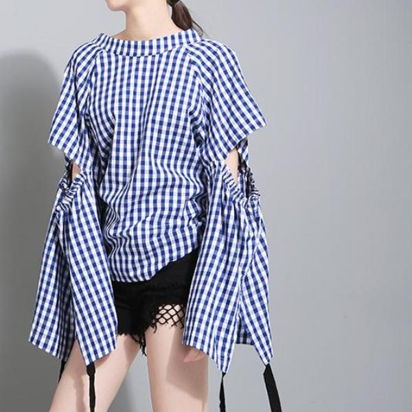Hollow Sleeved Blouse