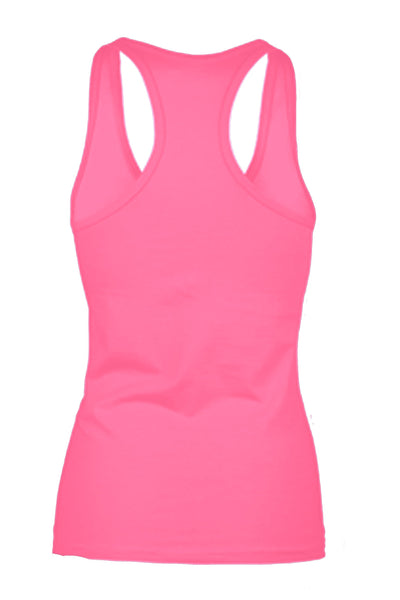 Women's I Wear PINK Breast Cancer Awareness Racerback TANK TOP PINK