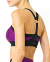 Contrast Sports Bra with Mesh Detail