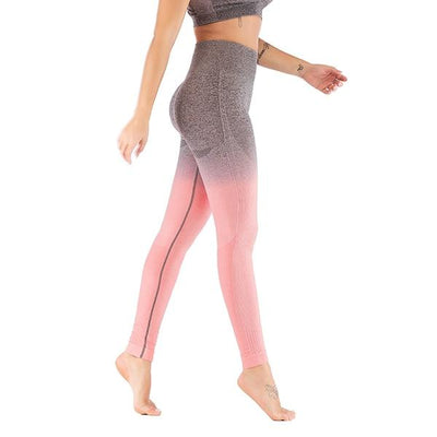 Seamless Yoga Leggings with Push Up Control