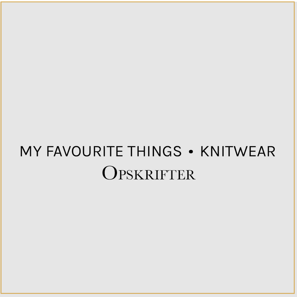 My Favourite Things Knitwear Opskrifter