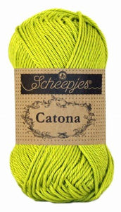 Scheepjes Catona 245 Green Yellow garn