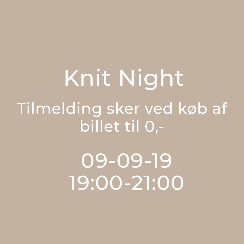 Knit Night Garn Galore 9/9-2019 19:00 - 21:00