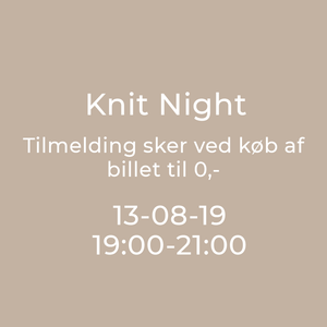 Knit Night Garn Galore 13/8-2019 19:00 - 21:00