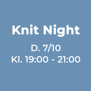 knit night eller strikkecafe hos garn galore infografik den 07-10-2019