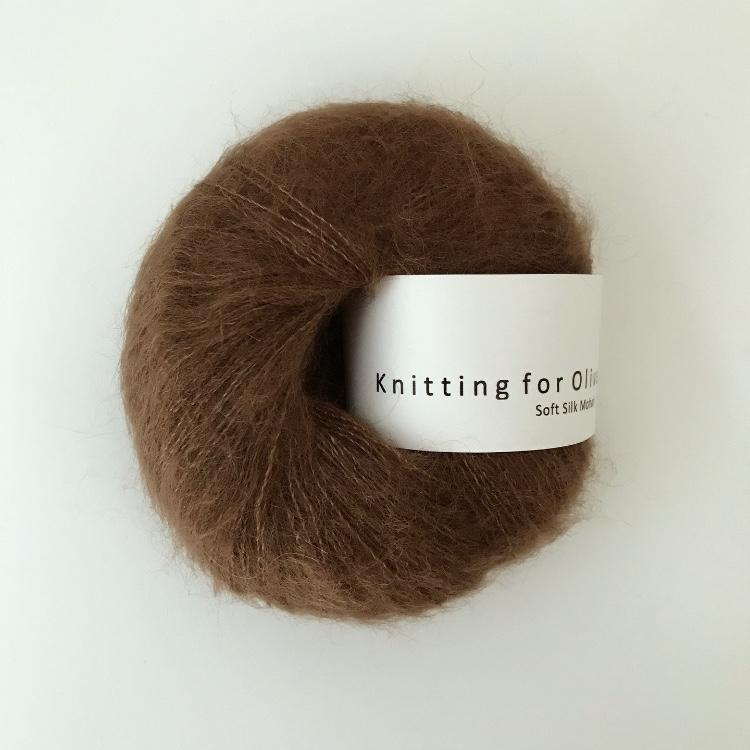 Knitting For Olive Soft Silk Mohair Mørk Cognac