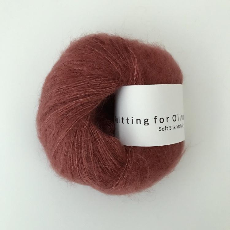 Knitting For Olive Soft Silk Mohair Støvet Skovbær garn