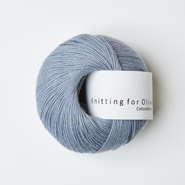 Knitting for Olive Cottonmerino Elefantblå garn