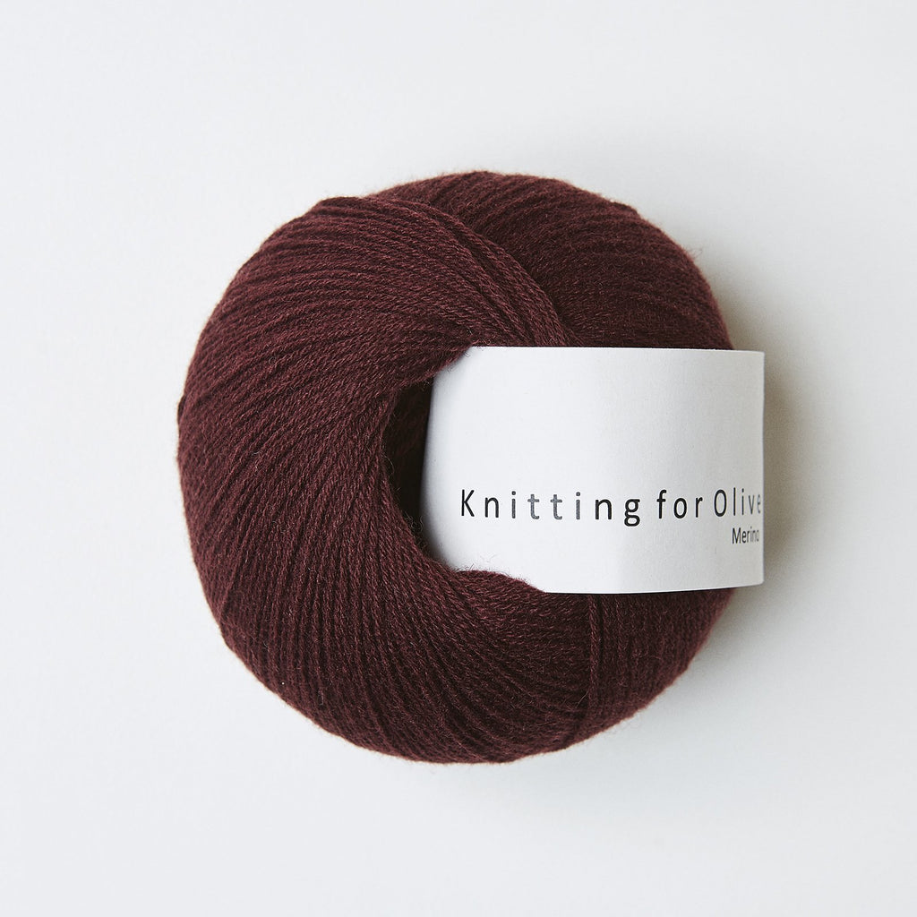 Knitting for Olive Merino Bordeaux