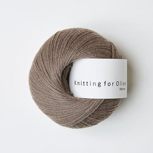 Knitting for Olive Merino Hasselnød garn