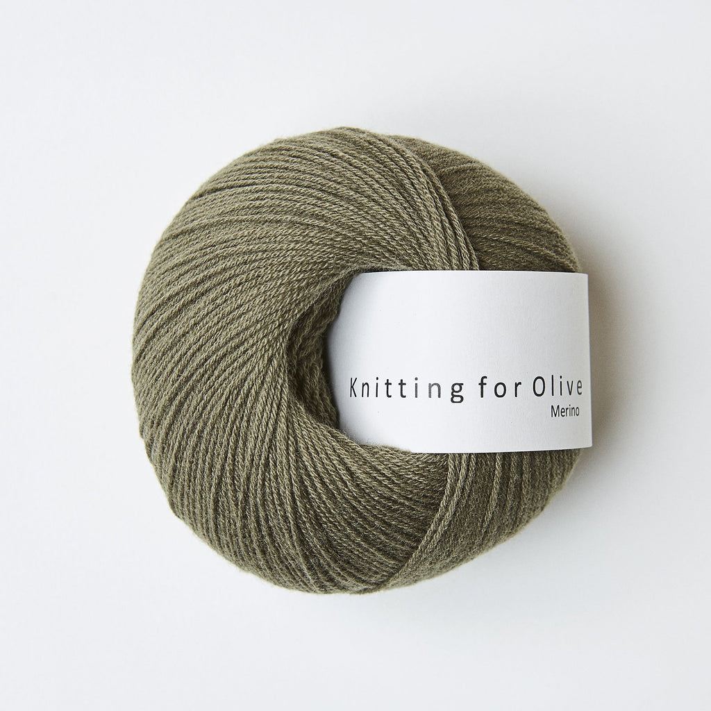 Knitting for Olive Merino Støvet Oliven
