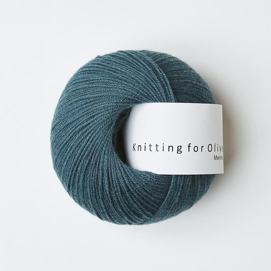 Knitting for Olive Merino Petroleumsgrøn