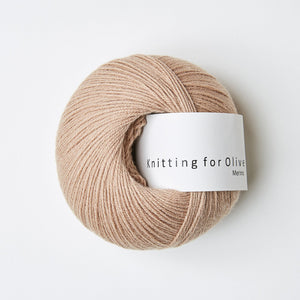 Knitting for Olive Merino Rosa Kamel garn