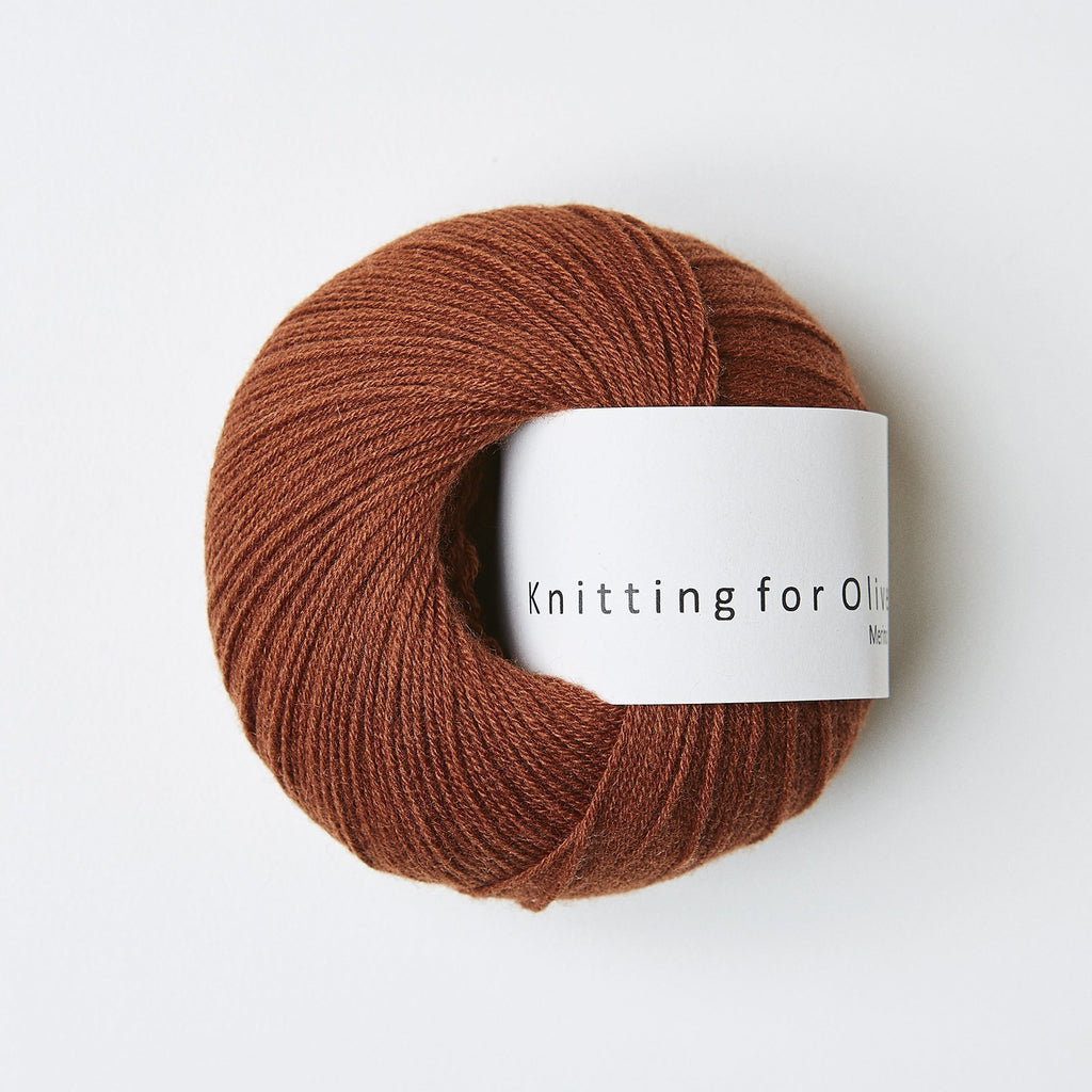 Knitting for Olive Merino Rust