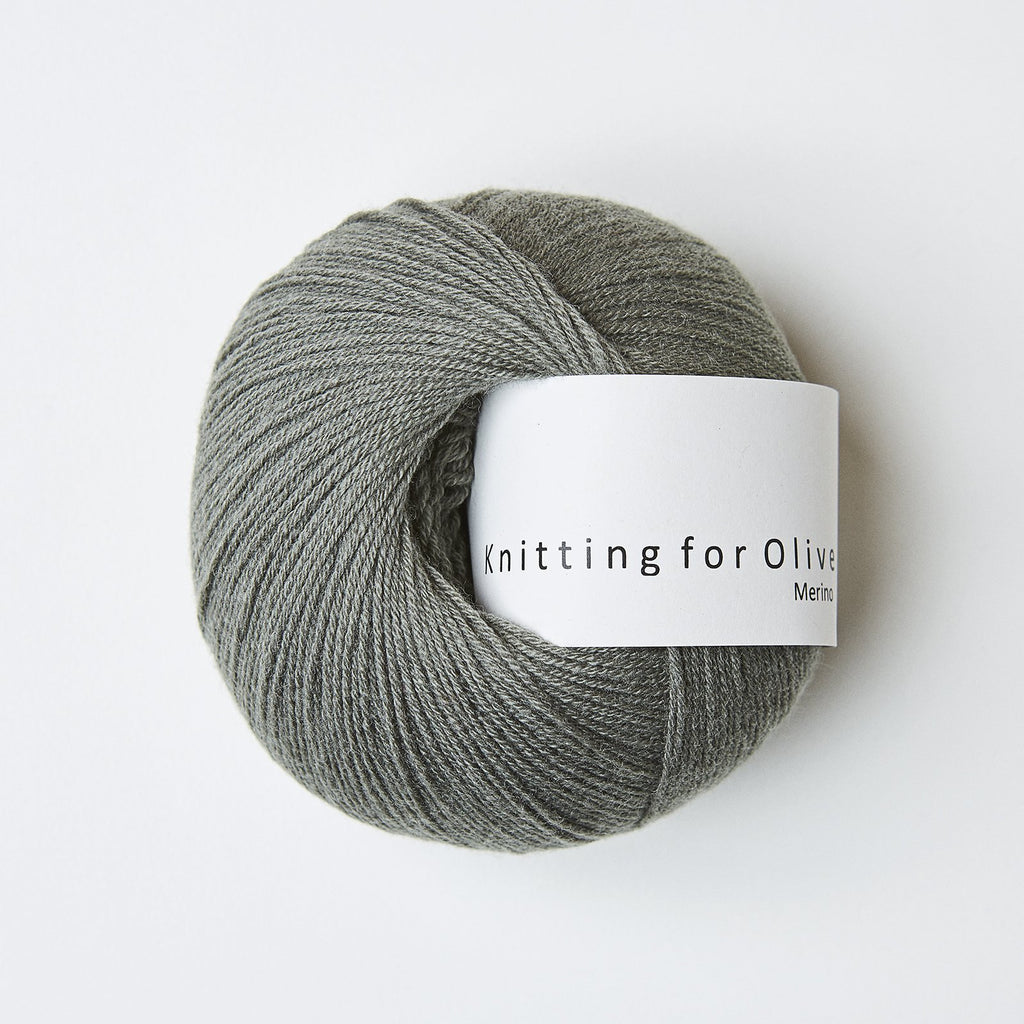 Knitting for Olive Merino Støvet Søgrøn