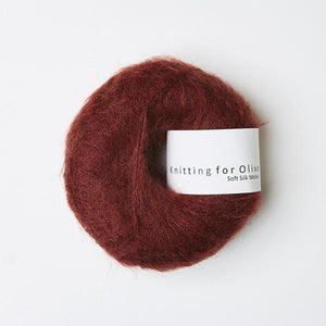 Knitting For Olive Soft Silk Mohair Vinrød garn