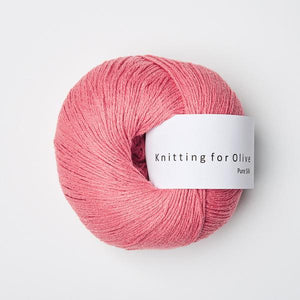 Knitting for Olive Pure Silk Hindbærpink garn