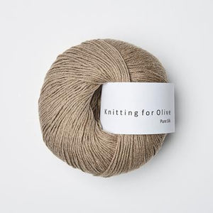 Knitting for Olive Pure Silk Kardemomme garn