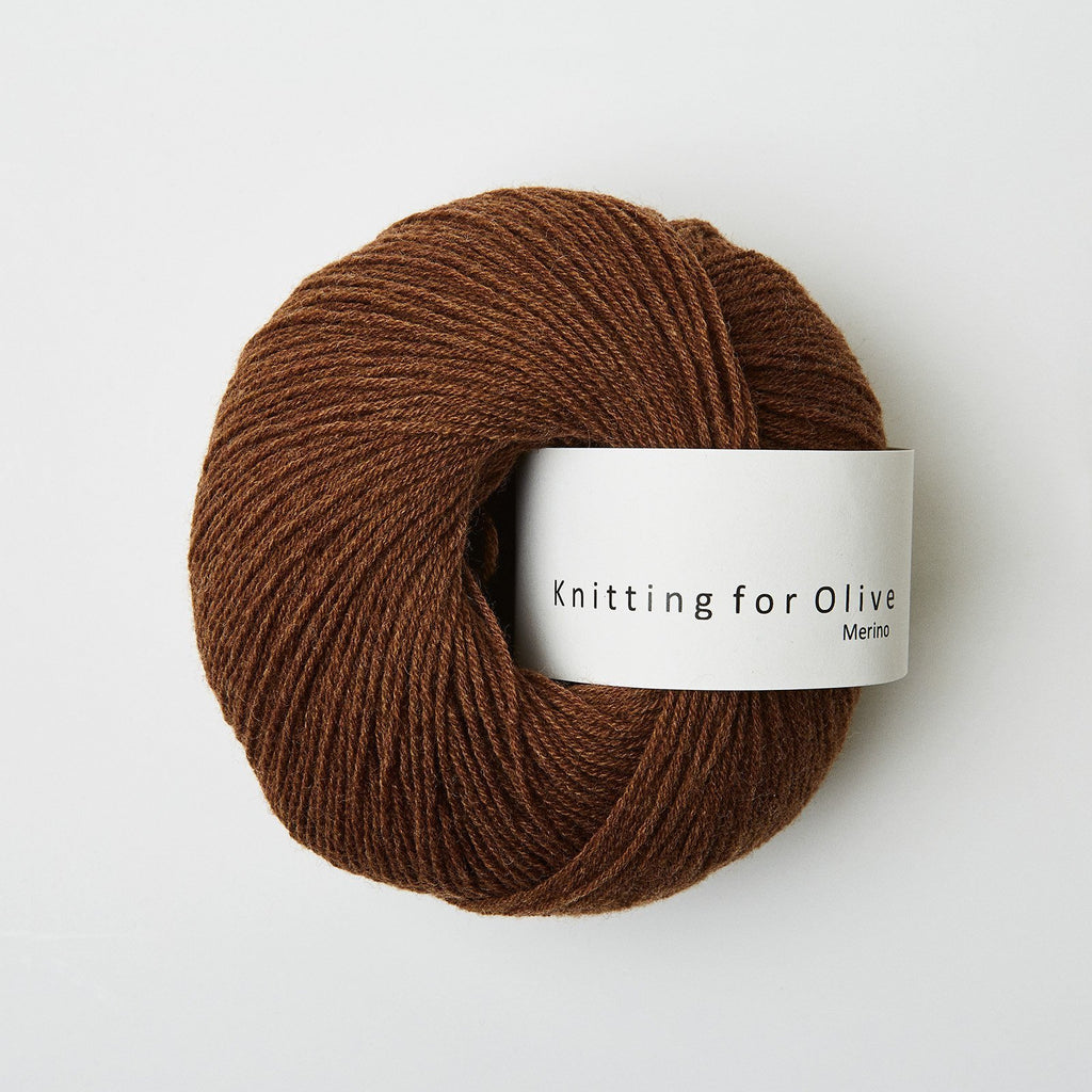 Knitting for Olive Merino Mørk Cognac