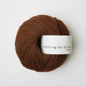 Knitting for Olive Merino Mørk Cognac garn
