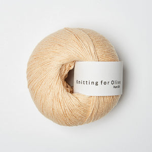 Knitting for Olive Pure Silk Blid Fersken garn