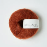 Knitting for Olive Soft Silk Mohair Rust ovenfra Garngalore.dk
