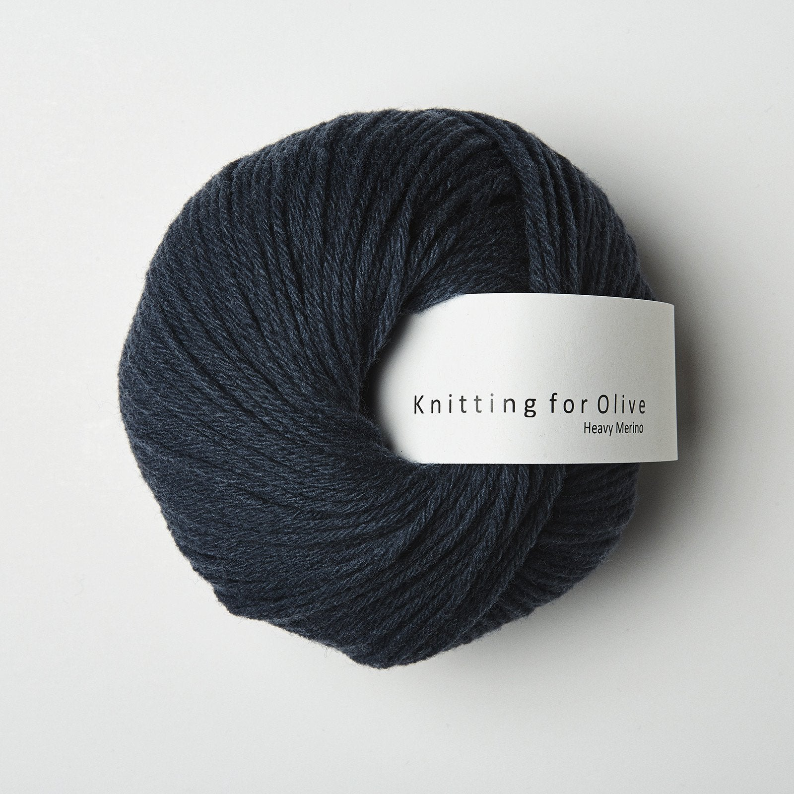 Knitting for Olive HEAVY Merino Dyb Petroleumsblå