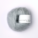 Knitting for Olive Soft Silk Mohair Pudderblå Garn