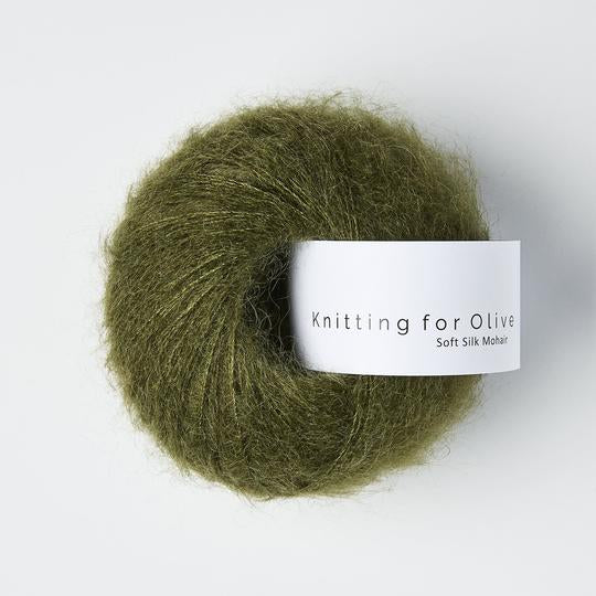 Knitting For Olive Soft Silk Mohair Skifergrøn