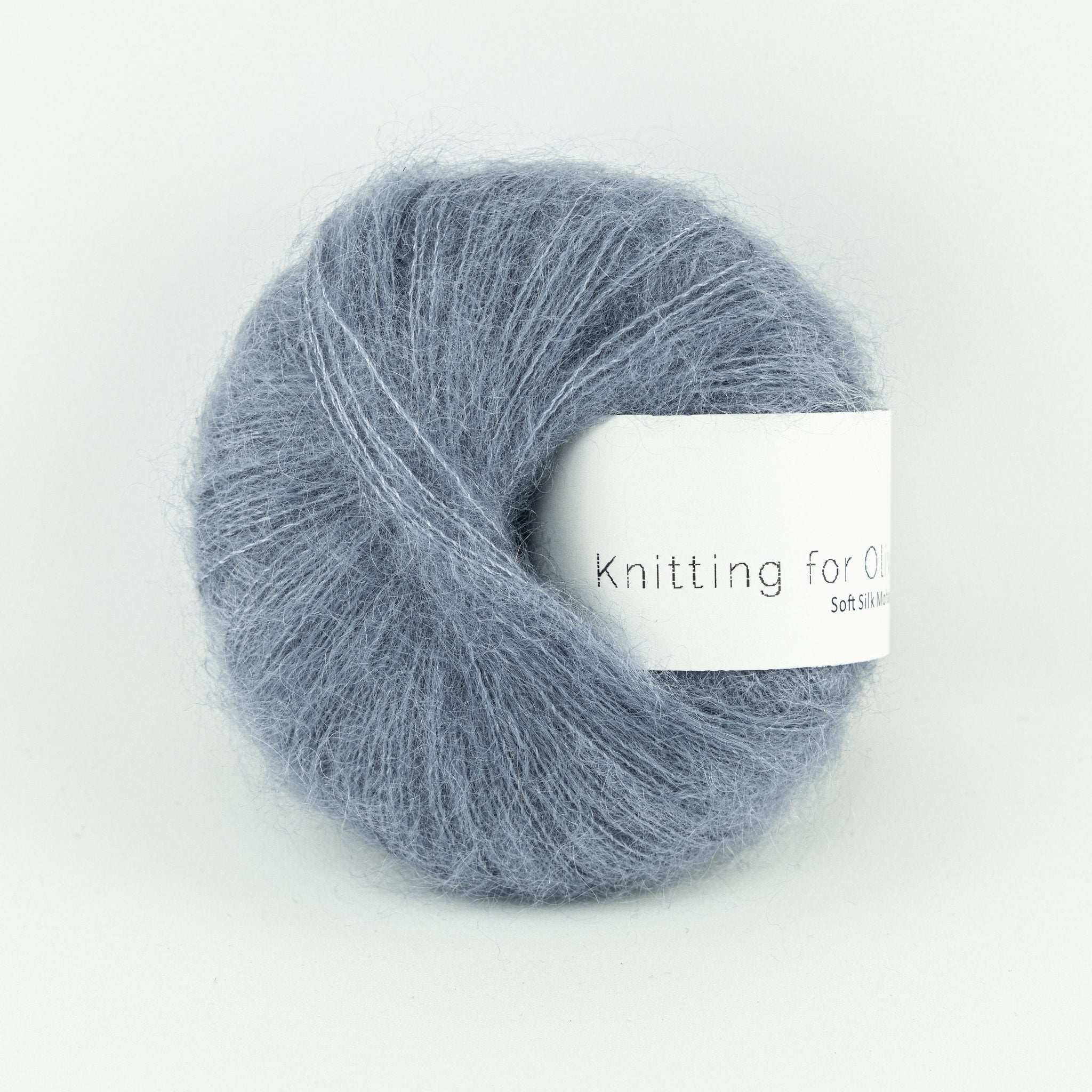 Knitting for Olive Soft Silk Mohair Støvet Dueblå