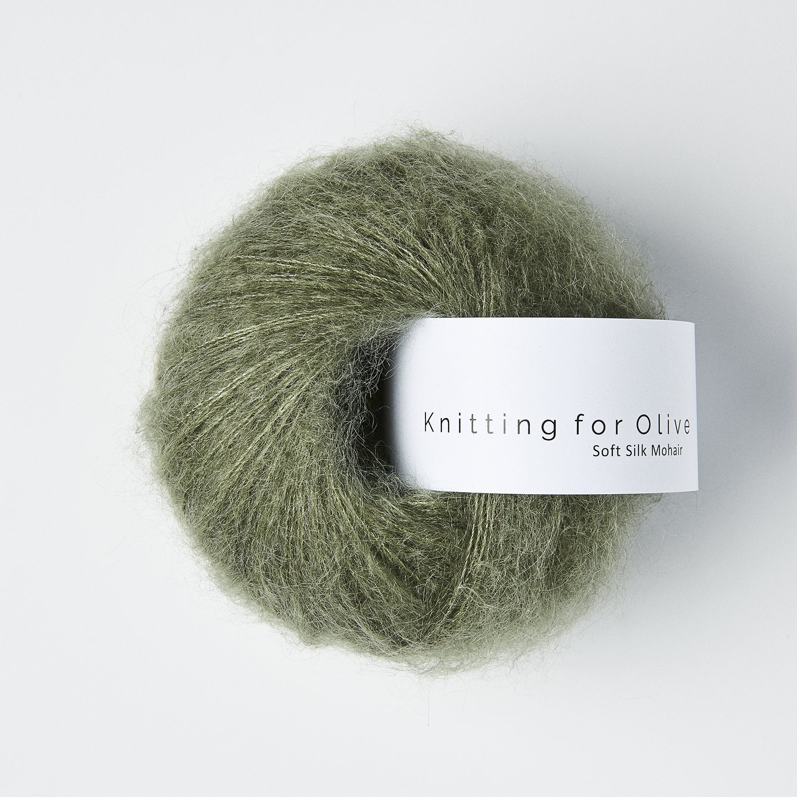 Knitting For Olive Soft Silk Mohair Støvet Søgrøn