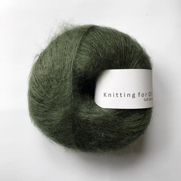 Knitting For Olive Soft Silk Mohair Flaskegrøn garn