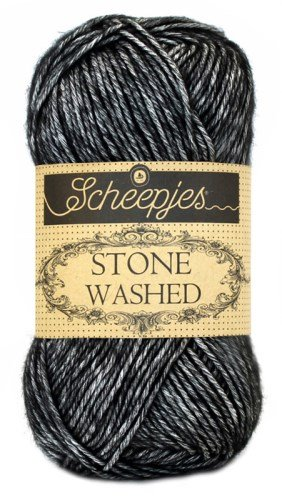 Scheepjes Stone Washed 803 Black Onyx garn
