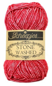 Scheepjes Stone Washed 807 Red Jasper garn