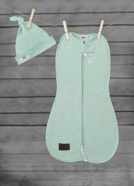 SLEEPEE Swaddle wrap with cap (mint)