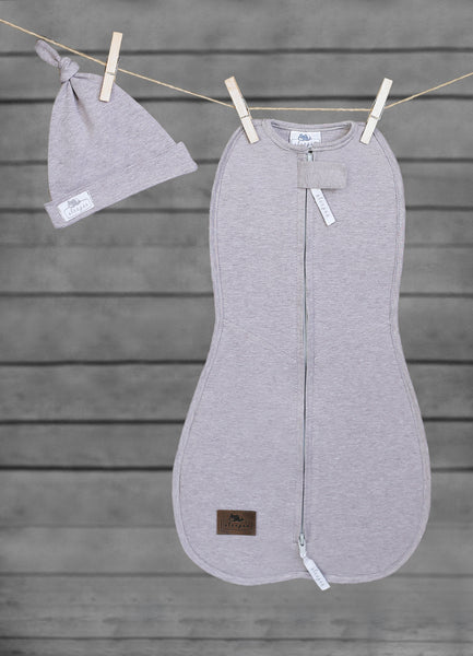 SLEEPEE Swaddle wrap with cap (grey)