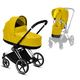 CYBEX Priam Mustard yellow 2 in 1 +  Chrome frame