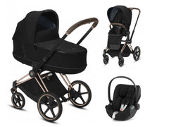 CYBEX Priam 3 in 1 Deep black / Rosegold / Cloud Z i-Size
