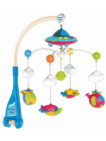 BabyMix musical mobile with light projector Planes