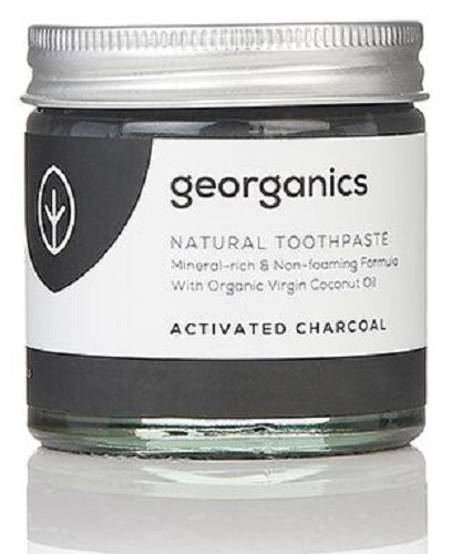 Georganics Natural Mineral-rich Toothpaste - Activated Charcoal 60ml - True Harvest