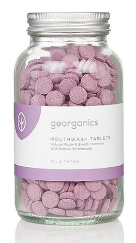 Georganics Mouthwash Tablets Thyme - 180 tablets - True Harvest