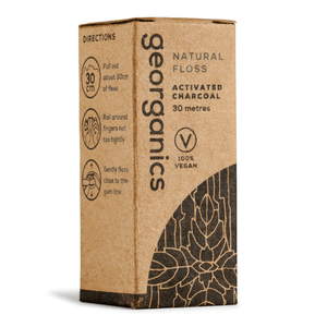 Georganics Natural Activated Charcoal Floss - 30m - True Harvest