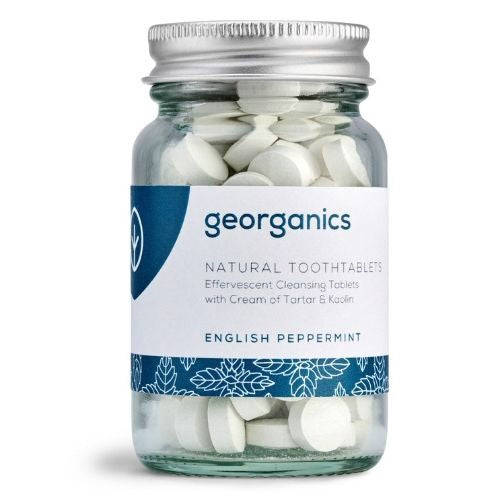 Georganics English Peppermint Toothtablets - 120 tablets - True Harvest