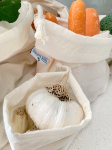 Organic Cotton Solid Produce Bag Set - True Harvest