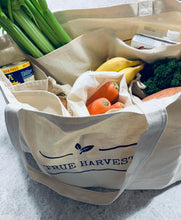 Load image into Gallery viewer, Canvas Pocket Tote Shopping Bag - True Harvest