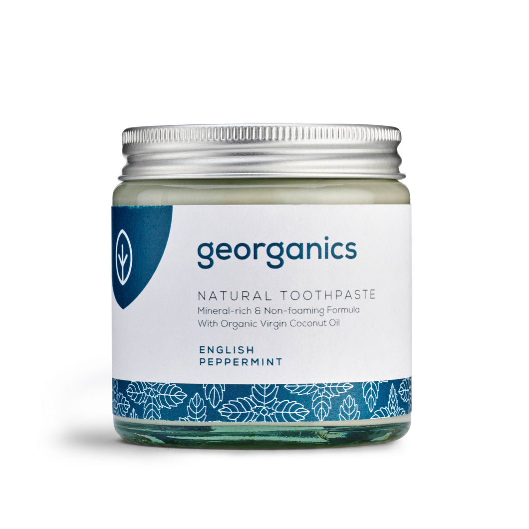 Georganics Natural Mineral-rich Toothpaste - English Peppermint 60ml - True Harvest
