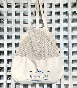 Organic Cotton Mixed String Tote Bag - True Harvest