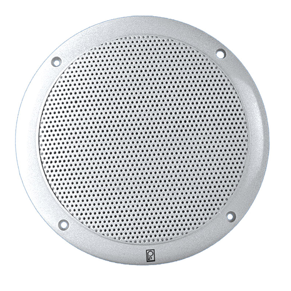 "Poly-Planar 4"" 2-Way Coax Integral Grill Marine Speaker - (Pair) White [MA4054W]"