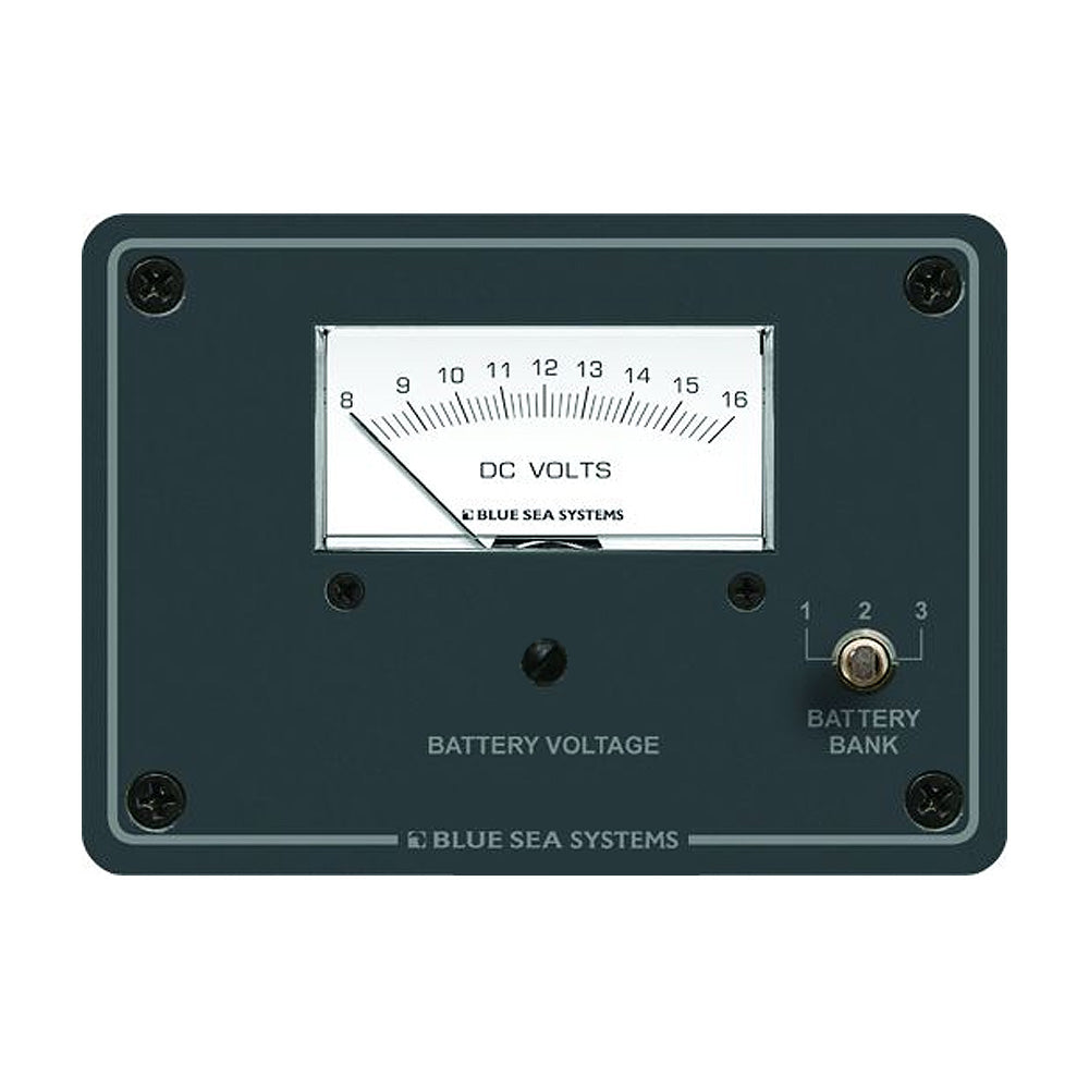 Blue Sea 8015 DC Analog Voltmeter w-Panel [8015]