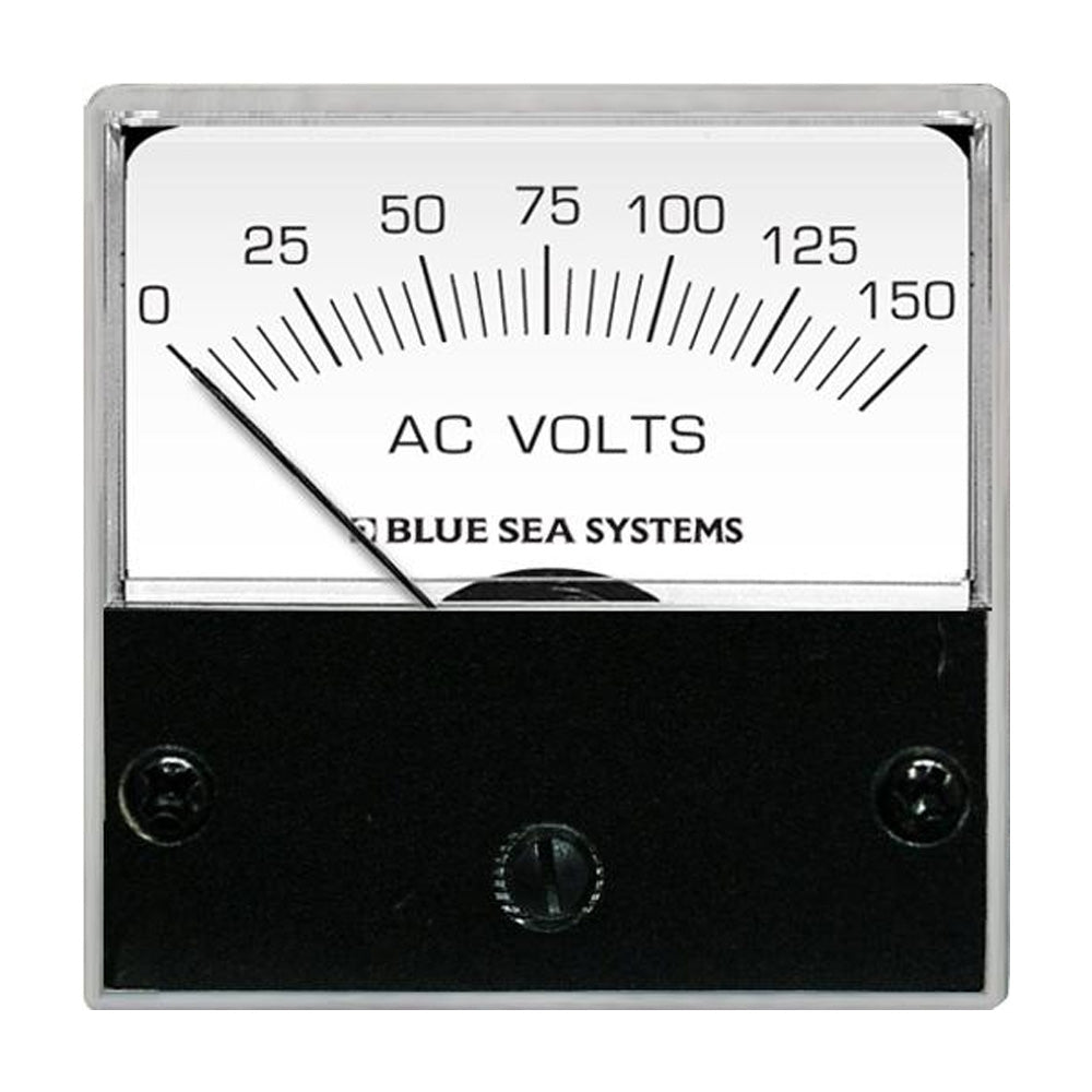 "Blue Sea 8244 AC Analog Micro Voltmeter - 2"" Face, 0-150 Volts AC [8244]"